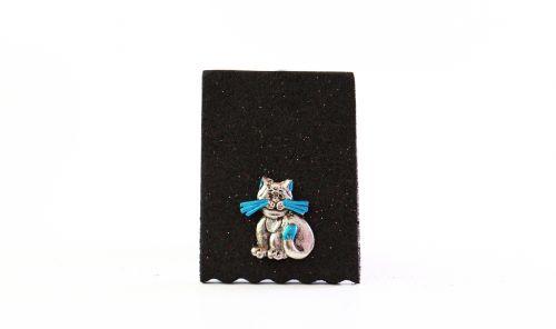 Cat - Blue Sitting