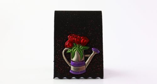 Watering Can - Red Flowers