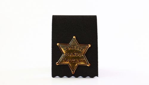 """""""We Serve and Protect"""" Badge"""